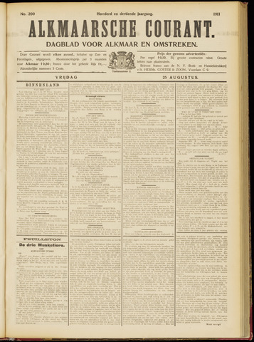 Alkmaarsche Courant 1911-08-25