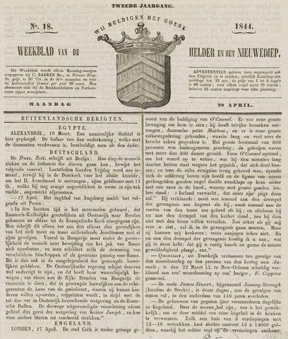 Weekblad van Den Helder en het Nieuwediep 1844-04-29