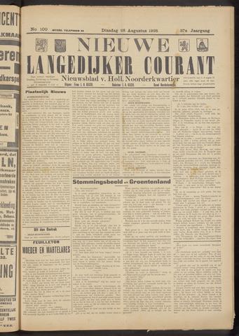 Nieuwe Langedijker Courant 1928-08-28