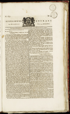 Alkmaarsche Courant 1831-08-15