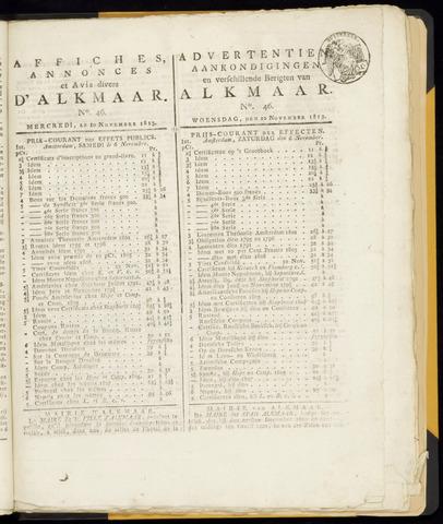 Alkmaarsche Courant 1813-11-10