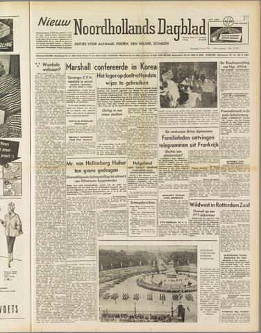 Nieuw Noordhollandsch Dagblad : voor Alkmaar en omgeving 1951-06-09