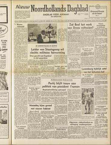 Nieuw Noordhollandsch Dagblad : voor Alkmaar en omgeving 1952-07-25
