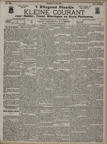 Vliegend blaadje : nieuws- en advertentiebode voor Den Helder 1907-07-20