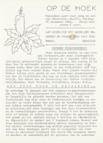 Op De Hoek, weekblad voor Akersloot 1962-12-28