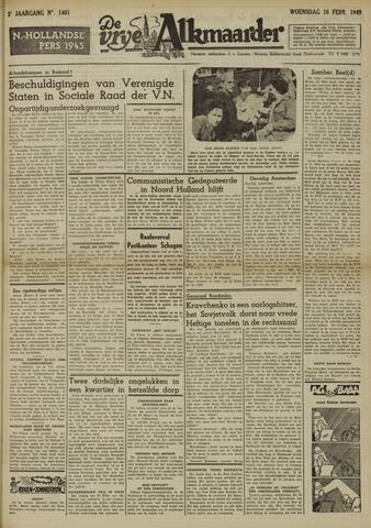 De Vrije Alkmaarder 1949-02-16