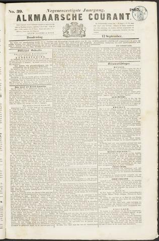 Alkmaarsche Courant 1867-09-12