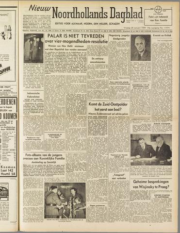 Nieuw Noordhollandsch Dagblad : voor Alkmaar en omgeving 1949-01-28