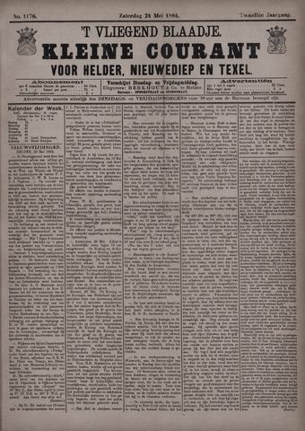 Vliegend blaadje : nieuws- en advertentiebode voor Den Helder 1884-05-24