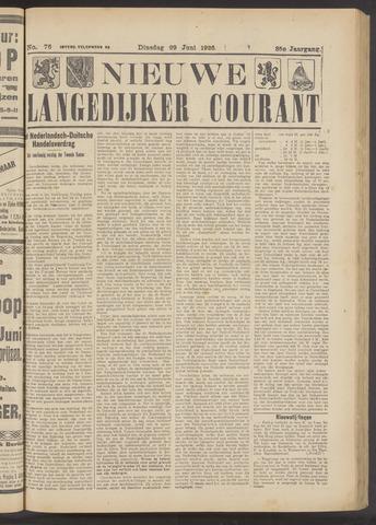 Nieuwe Langedijker Courant 1926-06-29