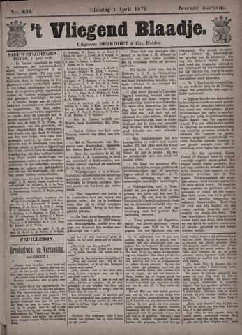 Vliegend blaadje : nieuws- en advertentiebode voor Den Helder 1879-04-01