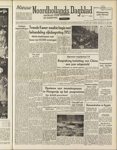 Nieuw Noordhollandsch Dagblad : voor Alkmaar en omgeving 1951-11-14