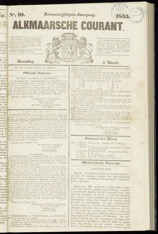 Alkmaarsche Courant 1855-03-05