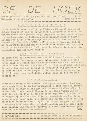 Op De Hoek, weekblad voor Akersloot 1955-04-23