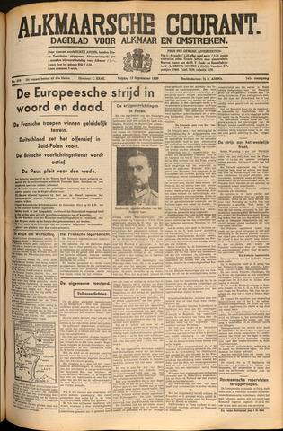 Alkmaarsche Courant 1939-09-15
