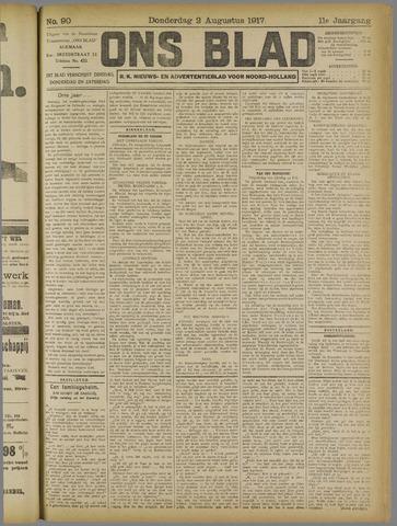 Ons Blad : katholiek nieuwsblad voor N-H 1917-08-02