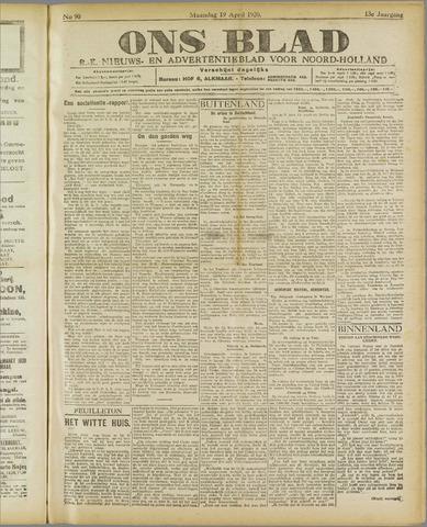 Ons Blad : katholiek nieuwsblad voor N-H 1920-04-19