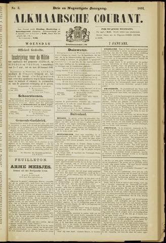 Alkmaarsche Courant 1891-01-07