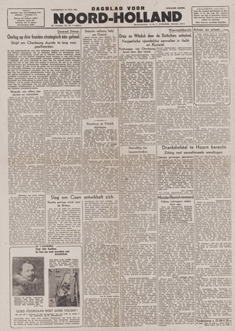Dagblad Noord-Holland, Schager editie 1944-06-29