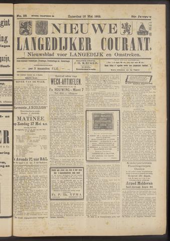 Nieuwe Langedijker Courant 1925-05-16