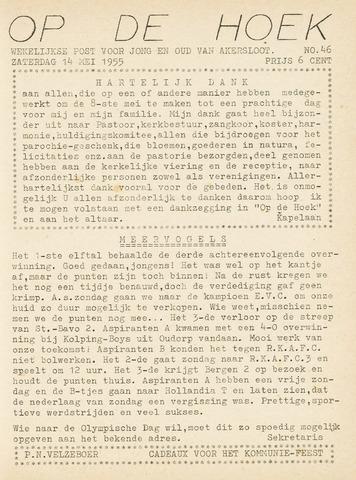 Op De Hoek, weekblad voor Akersloot 1955-05-14