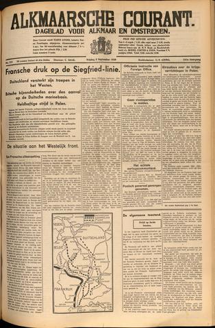 Alkmaarsche Courant 1939-09-08