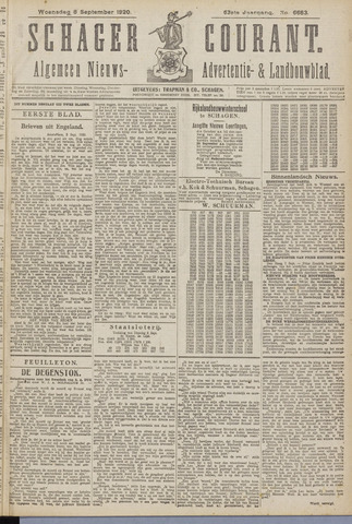 Schager Courant 1920-09-08