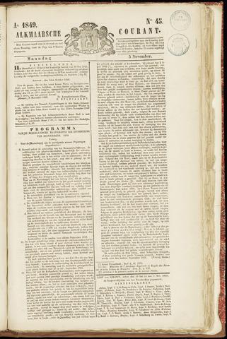 Alkmaarsche Courant 1849-11-05
