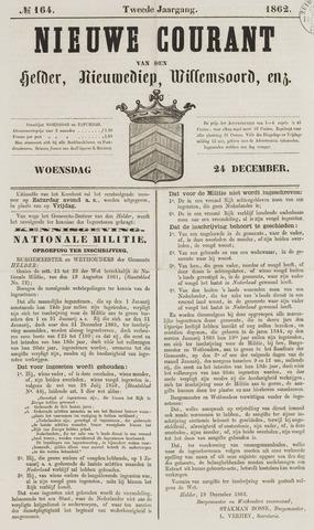 Nieuwe Courant van Den Helder 1862-12-24