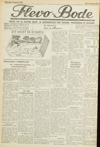 Flevo-bode: nieuwsblad voor Wieringen-Wieringermeer 1948-08-04