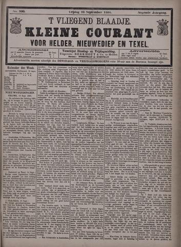 Vliegend blaadje : nieuws- en advertentiebode voor Den Helder 1881-09-16
