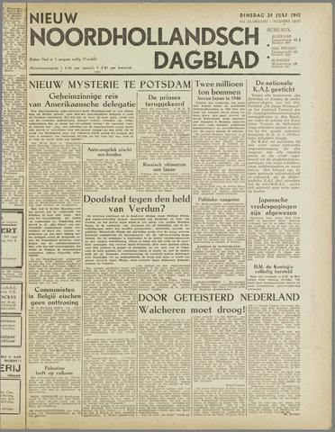 Nieuw Noordhollandsch Dagblad : voor Alkmaar en omgeving 1945-07-24