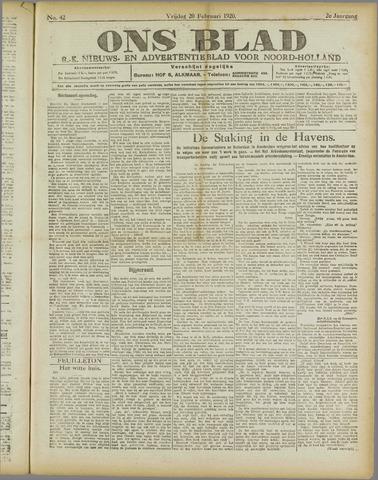 Ons Blad : katholiek nieuwsblad voor N-H 1920-02-20