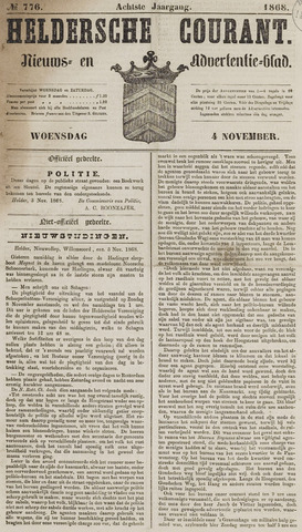 Heldersche Courant 1868-11-04
