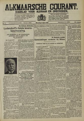 Alkmaarsche Courant 1937-04-05