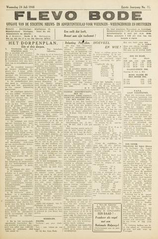 Flevo-bode: nieuwsblad voor Wieringen-Wieringermeer 1946-07-24