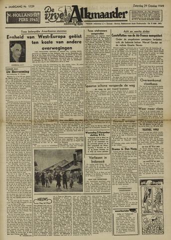 De Vrije Alkmaarder 1949-10-29