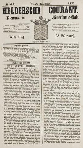 Heldersche Courant 1870-02-23