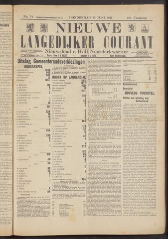 Nieuwe Langedijker Courant 1931-06-25