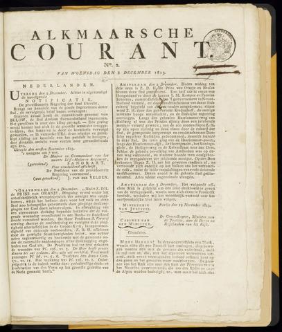 Alkmaarsche Courant 1813-12-08