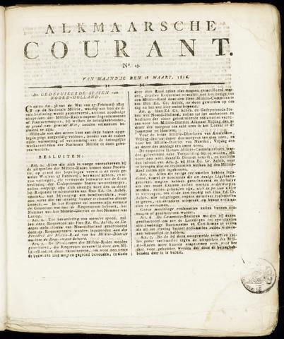Alkmaarsche Courant 1816-03-18