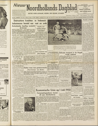 Nieuw Noordhollandsch Dagblad : voor Alkmaar en omgeving 1949-03-14