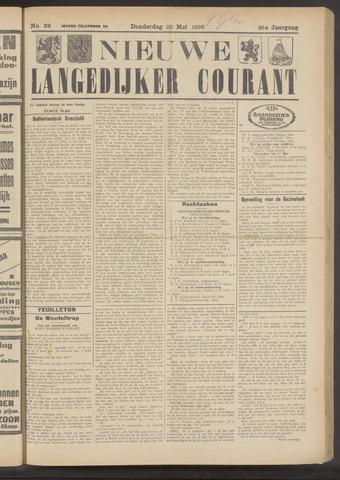 Nieuwe Langedijker Courant 1926-05-20