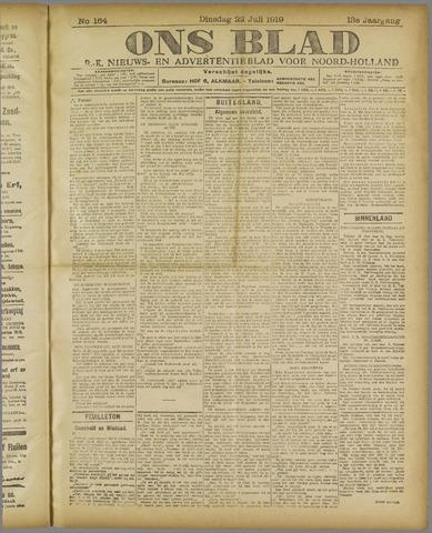 Ons Blad : katholiek nieuwsblad voor N-H 1919-07-22