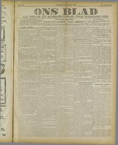 Ons Blad : katholiek nieuwsblad voor N-H 1920-01-20
