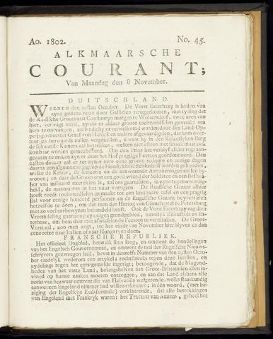Alkmaarsche Courant 1802-11-08