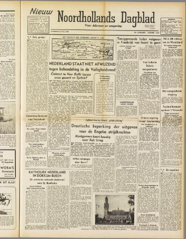 Nieuw Noordhollandsch Dagblad : voor Alkmaar en omgeving 1947-07-30