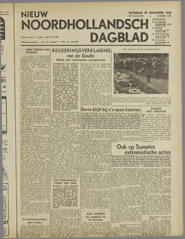 Nieuw Noordhollandsch Dagblad : voor Alkmaar en omgeving 1945-11-24