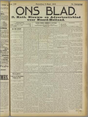 Ons Blad : katholiek nieuwsblad voor N-H 1913-09-06