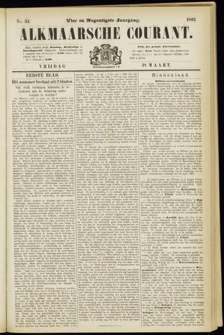 Alkmaarsche Courant 1892-03-18